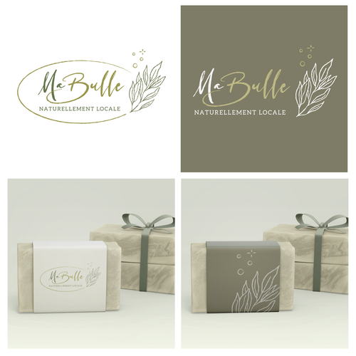 Olive branch design with the title 'Sustainable logo for Soap company'