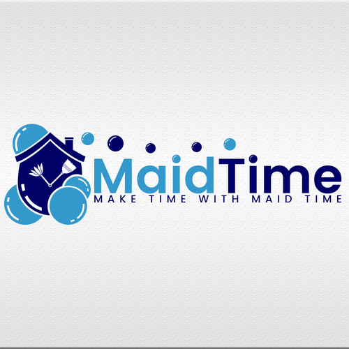 Broom design with the title 'MaidTime'