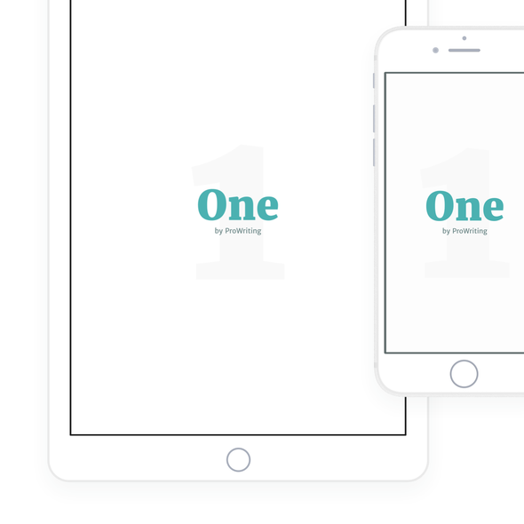 Diary design with the title 'Minimalist writing iPad & iPhone app'