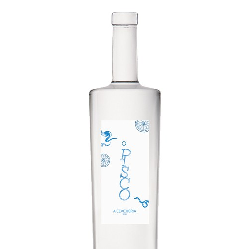 Heritage label with the title 'Bottle label for limited edition Pisco'