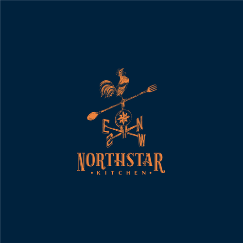 North logo with the title 'Logo Concept for Northstar Kitchen'