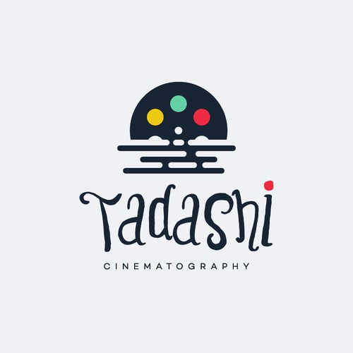 Cinematographer and cinematography logo with the title 'Tadashi'
