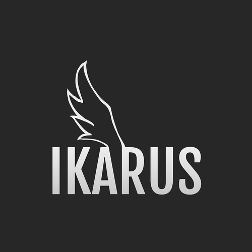 Font artwork with the title 'Wing of Ikarus'
