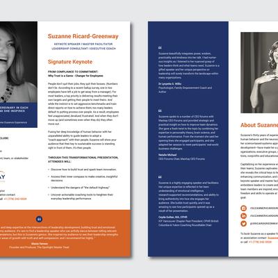 Bio Sheet for Public Speaking
