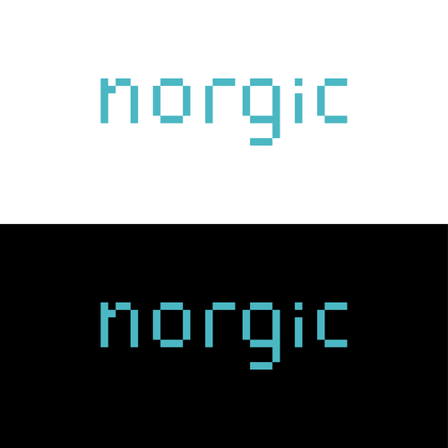 8 bit logo with the title '8bit logo for Norwegian IT company'