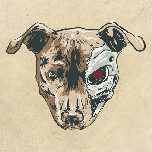 Pet t-shirt with the title 'Terminator dog'