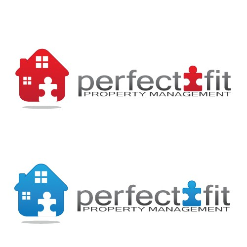 Puzzle logo with the title 'Perfect Fit Property Management Needs A LOGO'
