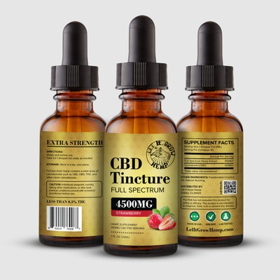 CBD Tincture Bottle Label Design