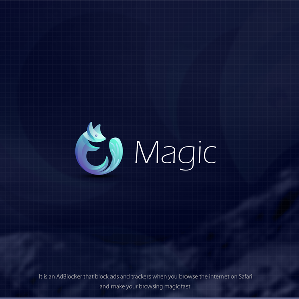 Blues design with the title 'Magic (AdBlocker Browser)'