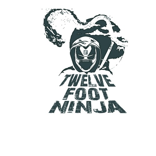 Ninja t-shirt with the title 'T-shirt design for rock band.'