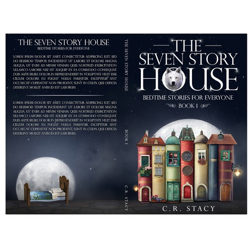 Story book cover with the title 'The Seven Story House'