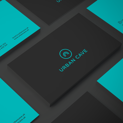 Teal design with the title ' Fitness Studio logo'