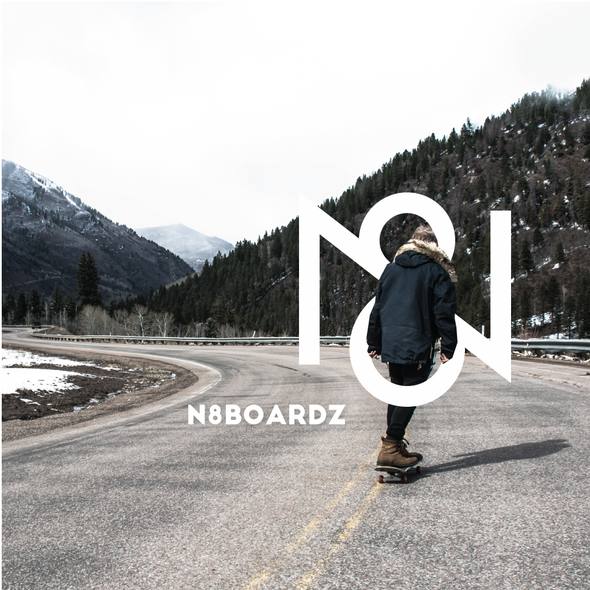 Trademark design with the title 'N8 boardz'