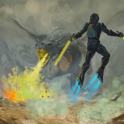Dragon&Futuristic Soldier