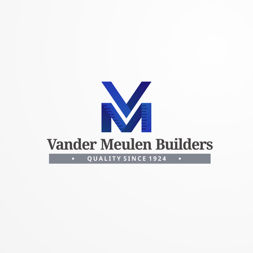 Builder logo with the title 'Geometric Monogram for Vander Meulen Builders'