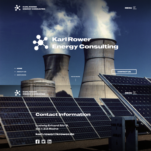 Nuclear design with the title ' Landing Page for Nuclear Power Plant'