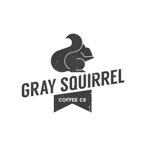 Squirrel logo with the title 'Create a logo for a small batch artisan coffee roasting company.'