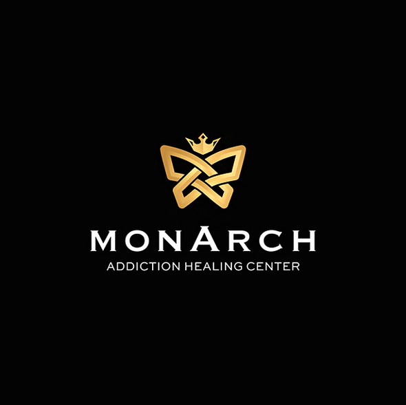 Monarch butterfly logo with the title 'Logo  for Monarch Addiction Healing Center'