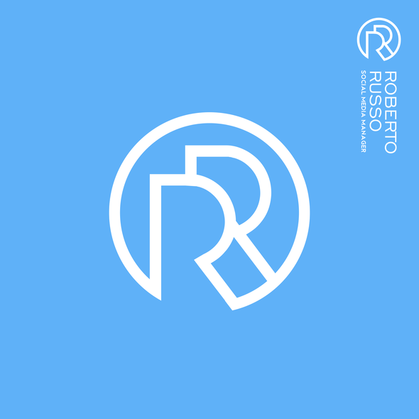 Personal logo with the title 'Monogram RR logo | Initials logo | Personal Logo | Robert Russo'