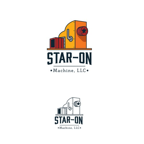 Machine logo with the title 'Star-on logo'