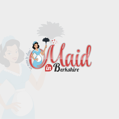 Maid logo with the title 'Cleaning'