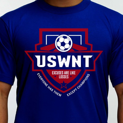Soccer t-shirt with the title 'Design for USWNT T-shirt'