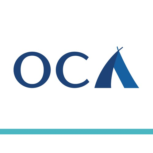 Yacht logo with the title 'OCA - Logo design for yacht'