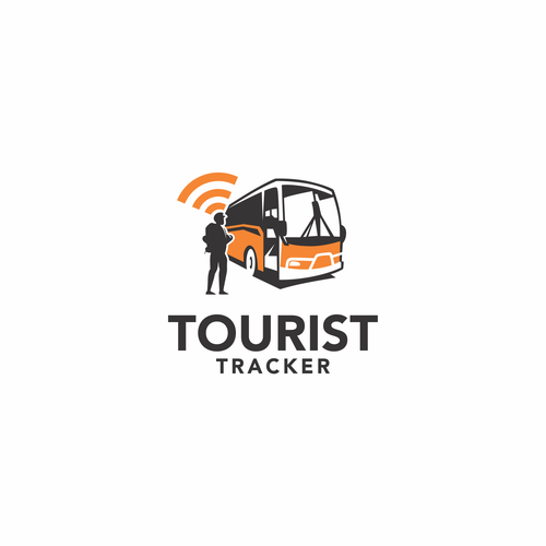Bus logo with the title 'TOURIST TRACKER'