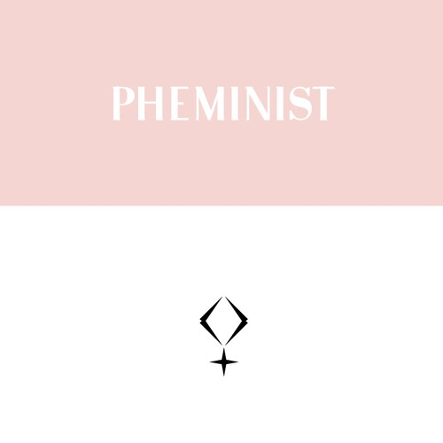 "Tribe logo with the title 'logo design for online tribe ""pheminist""'"