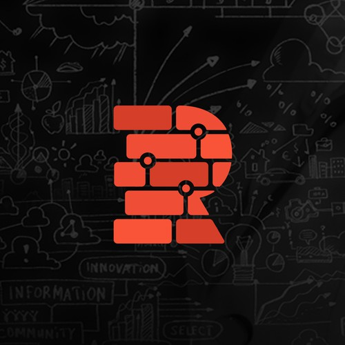 Brick logo with the title 'Red Brick Logo'