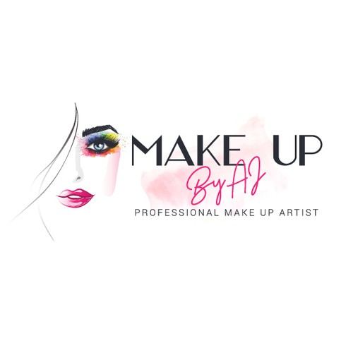 Salon logo with the title 'Make up'