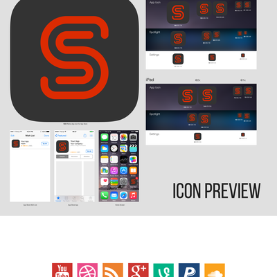 iOS icon design for SocialScore App