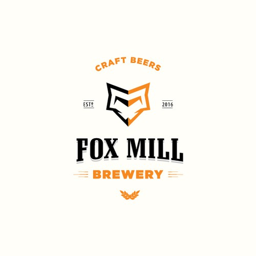Foxy logo with the title 'Fox Mill Brewery'