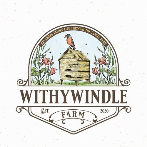 Hand-drawn logo with the title 'Withywindle'