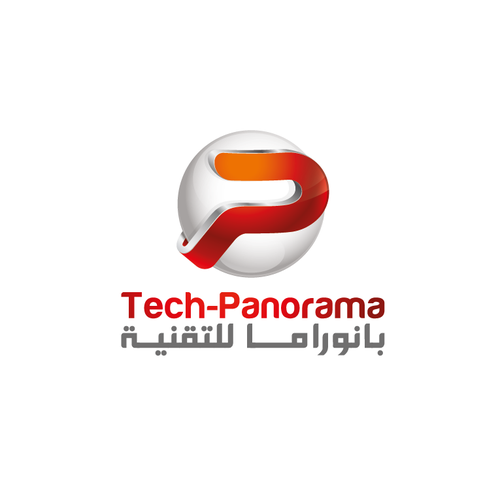 3D brand with the title 'tech-panorama logo'