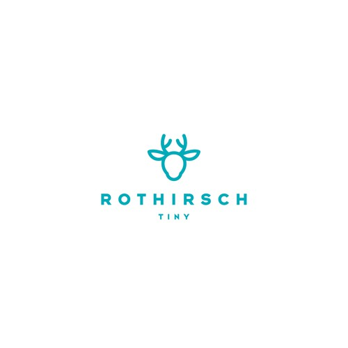 Young design with the title 'Cute kids Brand Logo *Rothirsch Kids*'