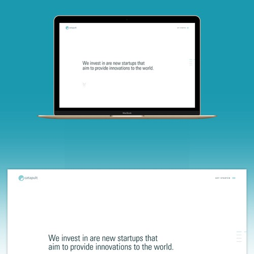 """Accounting website with the title 'Web design for venture capital firm """"catapult""""'"""