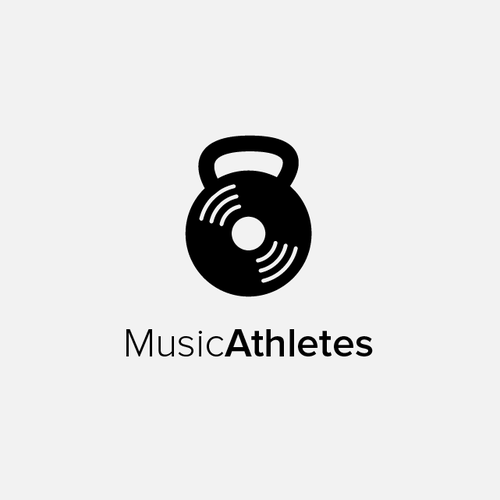 Kettlebell logo with the title 'Music Athletes'