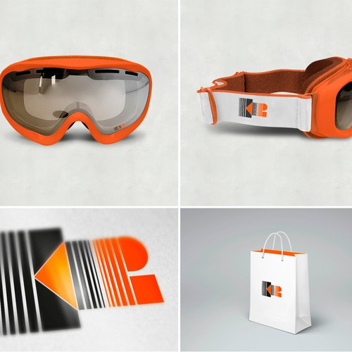 Goggles design with the title 'Create an amazing logo for GLX Goggles'