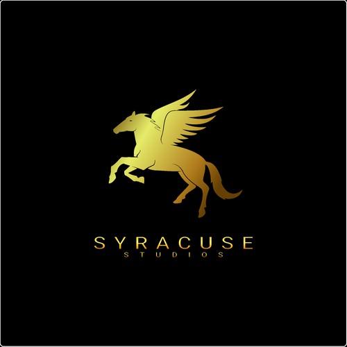 Pegasus design with the title 'Logo design for a film production studio. '