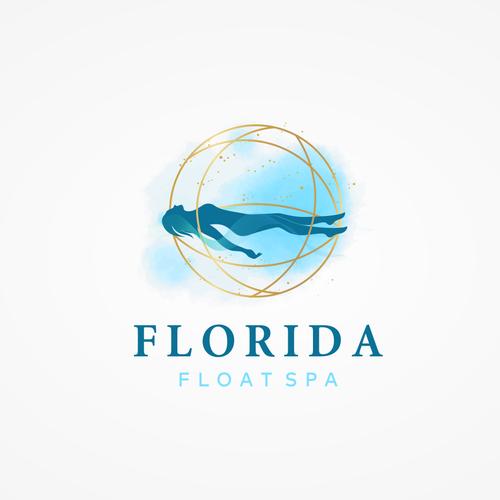 Aqua logo with the title 'Florida Float Spa'