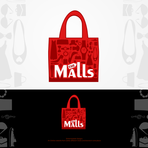 "Mall logo with the title 'Online retails Website ""THE MALLS""'"
