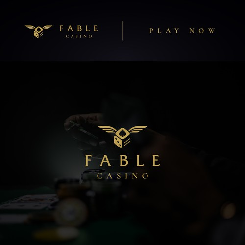 Dice logo with the title 'Fable Casino logo'
