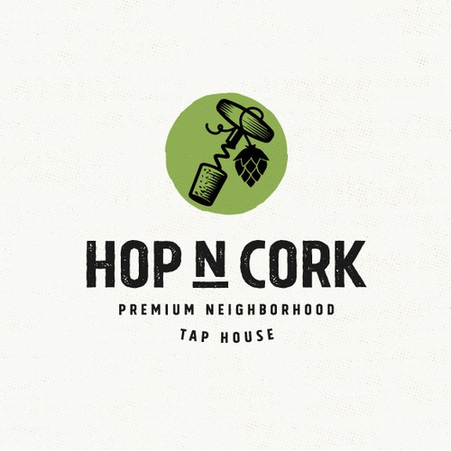 Rustic logo with the title 'Bold logo for a tap house'