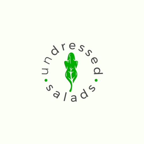 Salad logo with the title 'Undressed Salads Logo'