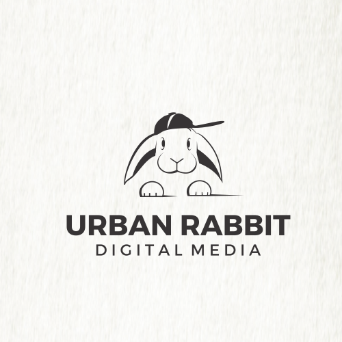 Rabbit design with the title 'urban rabbit'