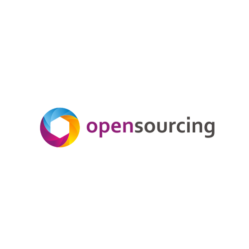 Sky blue logo with the title 'opensourcing'