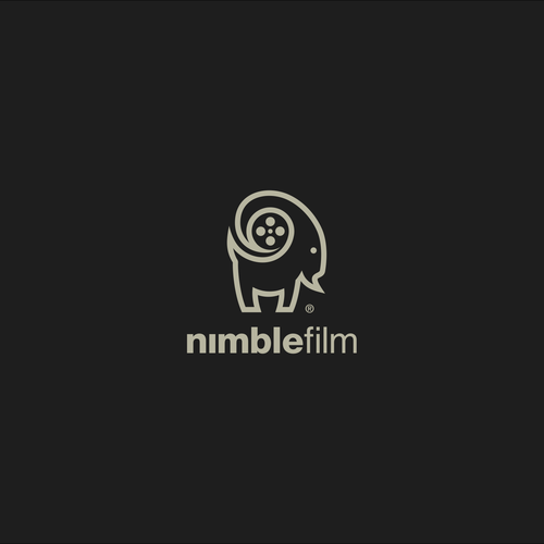 Goat milk logo with the title 'Nimble film logo'