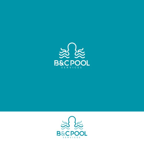 Pool design with the title 'B&C POOL'