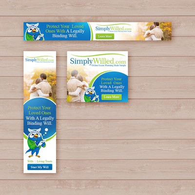 SimplyWilled.com Banner Ads